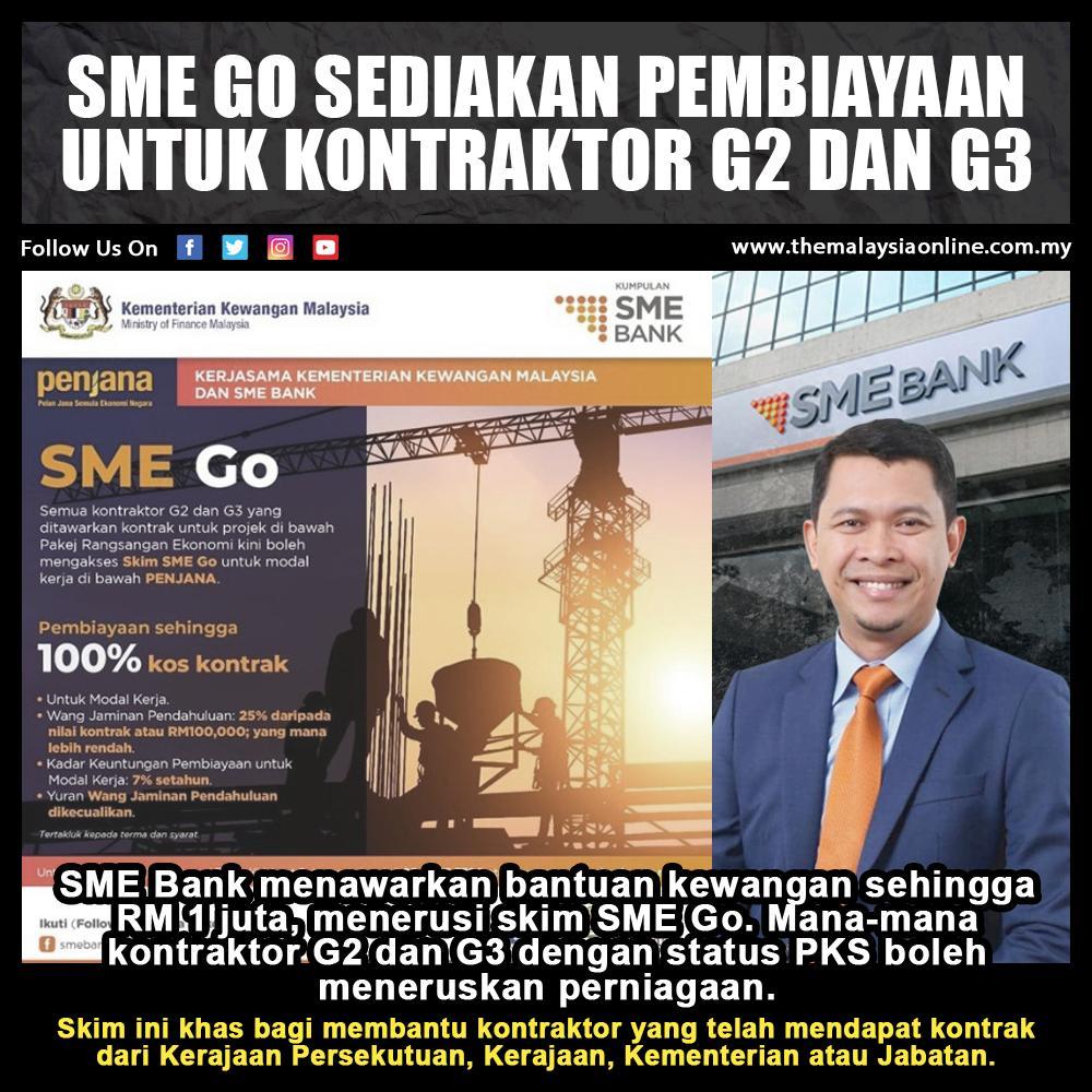 Sme Go Sediakan Pembiayaan Untuk Kontraktor G2 Dan G3 The Malaysia Online